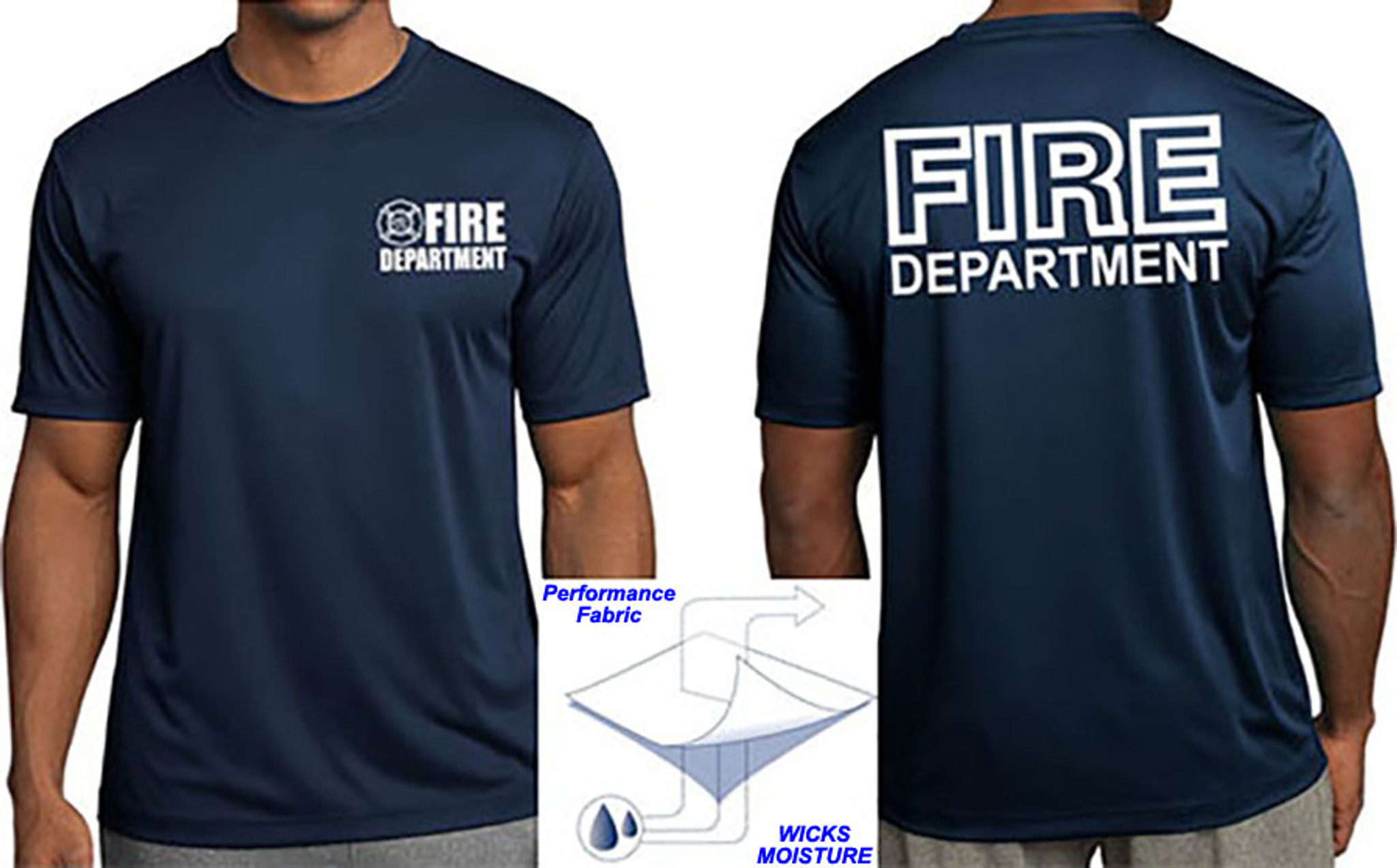Fire Department Wicking Performance T-Shirt