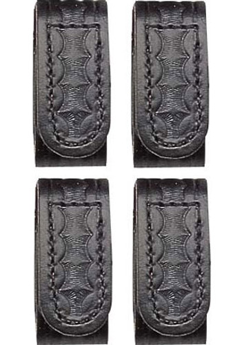 Perfect Fit Leather Belt Keepers with Velcro (Basketweave)