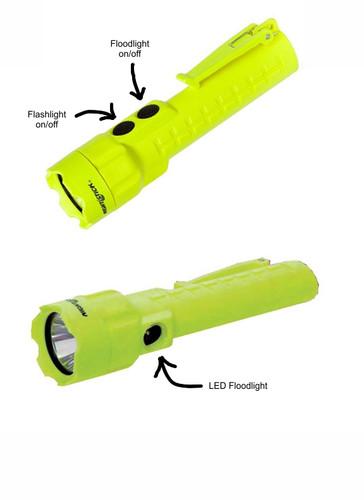 NightStick Pro Intrinsically Safe Dual Flashlight/Floodlight (Hi-Viz GREEN)