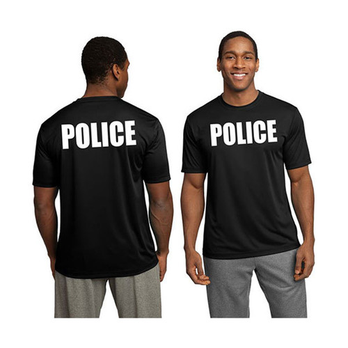 POLICE Wicking Performance T-Shirt (Black)
