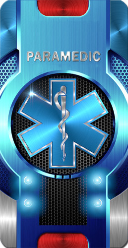 iPhone SubliCOVER Full Color Case (Paramedic Star of Life) (BLACK)