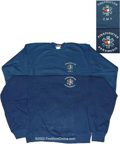 Firefighter/EMT or Firefighter/Paramedic Embroidered Sweatshirt