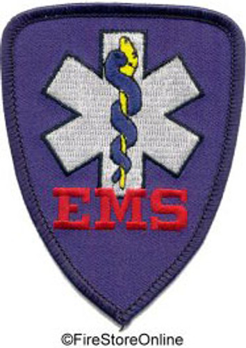 Patch - EMS (royal w/navy border)