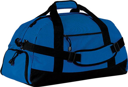 Custom Logo LARGE Duffel Bag w/EMBROIDERED LOGO (ROYAL)