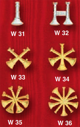 Bugle Collar Insignia (Choose Rank)