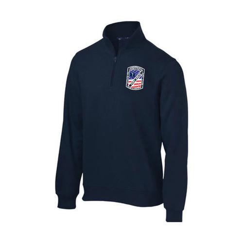 Port Jervis Logo Sport-Tek 1/4 Zip Sweatshirt (NAVY)