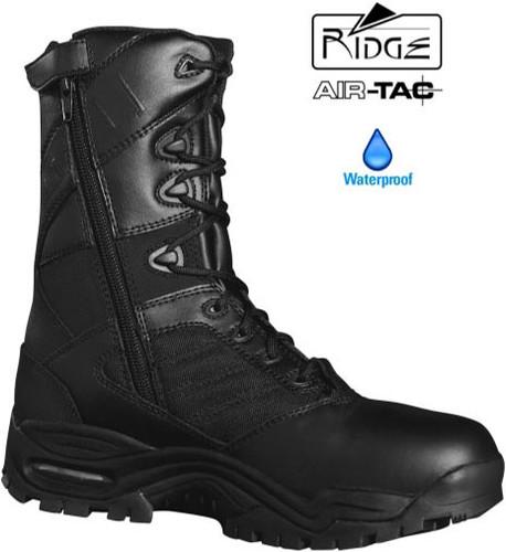 """Ridge Ultimate 8"""" Side Zip Duty Boot (Waterproof / Anti-Microbial) - Size 11M / 12.5 Women [50% Off]"""