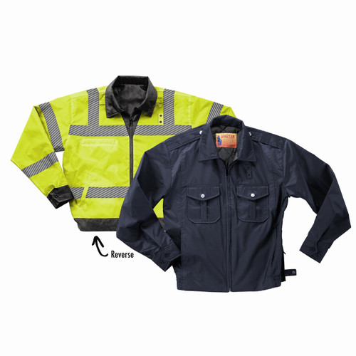 REVERSIBLE ANSI 3 POLICE WINDBREAKER 100% Polyester Oxford