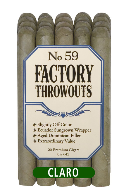 Factory Throwouts Claro No. 59