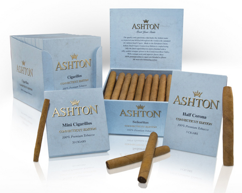 Ashton Small Cigars Connecticut Half Corona