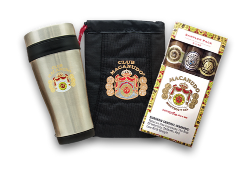 Macanudo Coffee Cup, Pouch, & 3 Pack Sampler