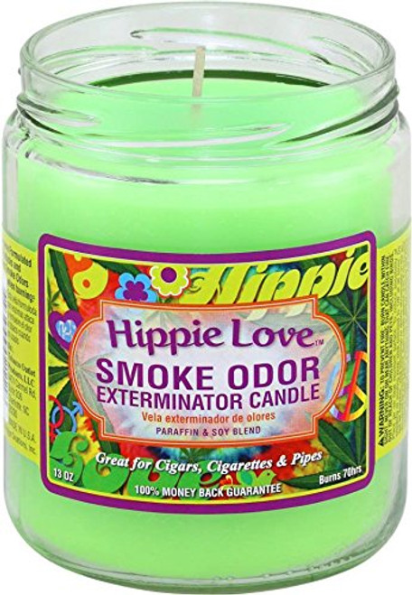 Smoke Odor Candle Hippie Love