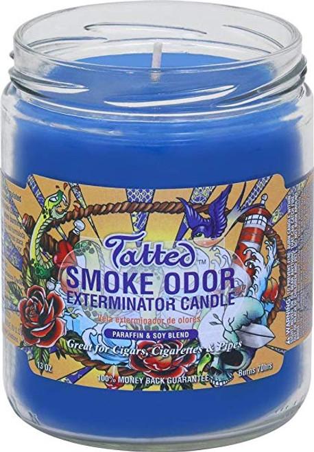 Smoke Odor Candle Tatted