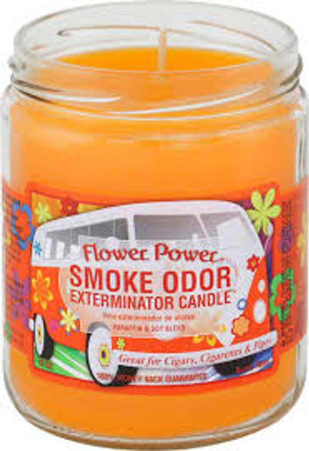 Smoke Odor Candle Flower Power
