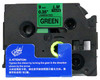 3/8 black on green label tape