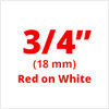 "3/4"" Red on White ptouch labels"