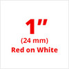 "1"" Red on White ptouch labels"