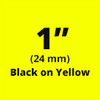 """1"""" Black on Yellow ptouch label"""