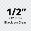 """1/2"""" Black on Clear ptouch tape"""