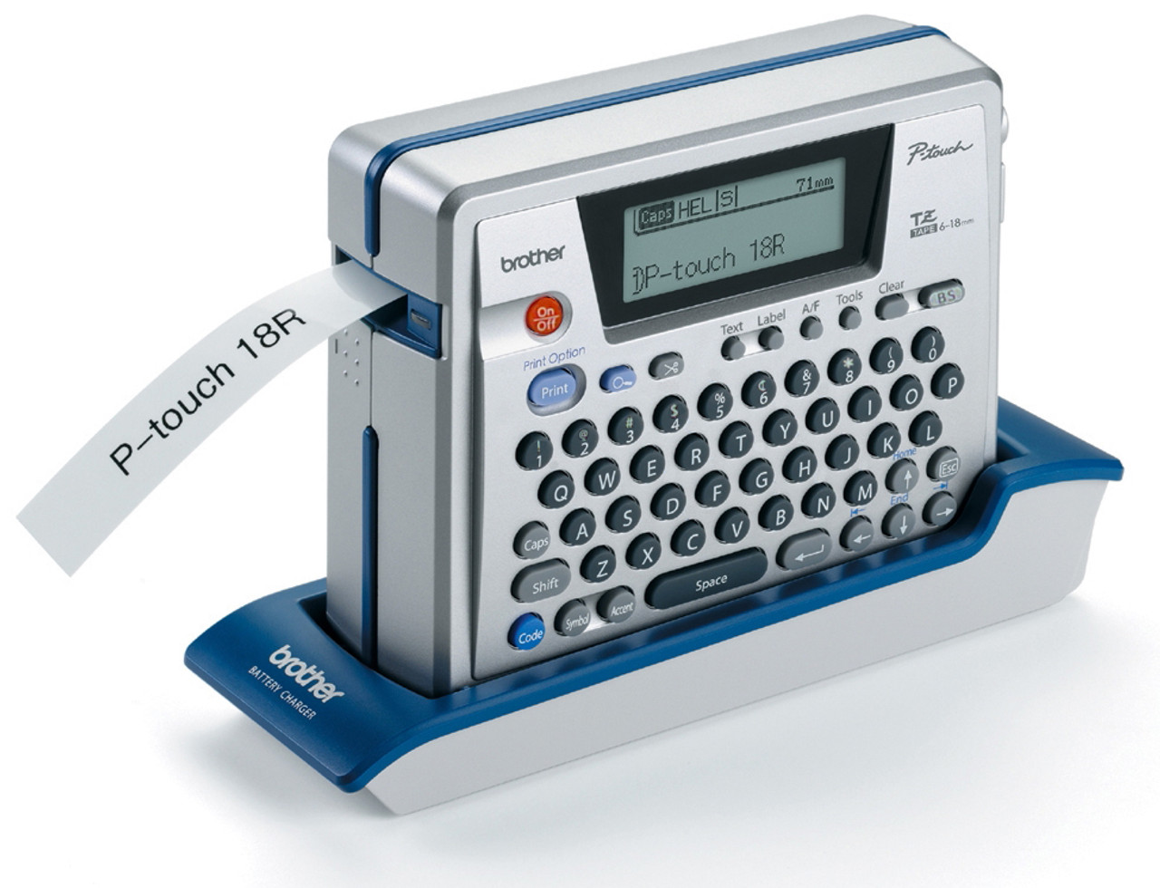 Brother PT-18R Rechargeable Electronic Label Maker