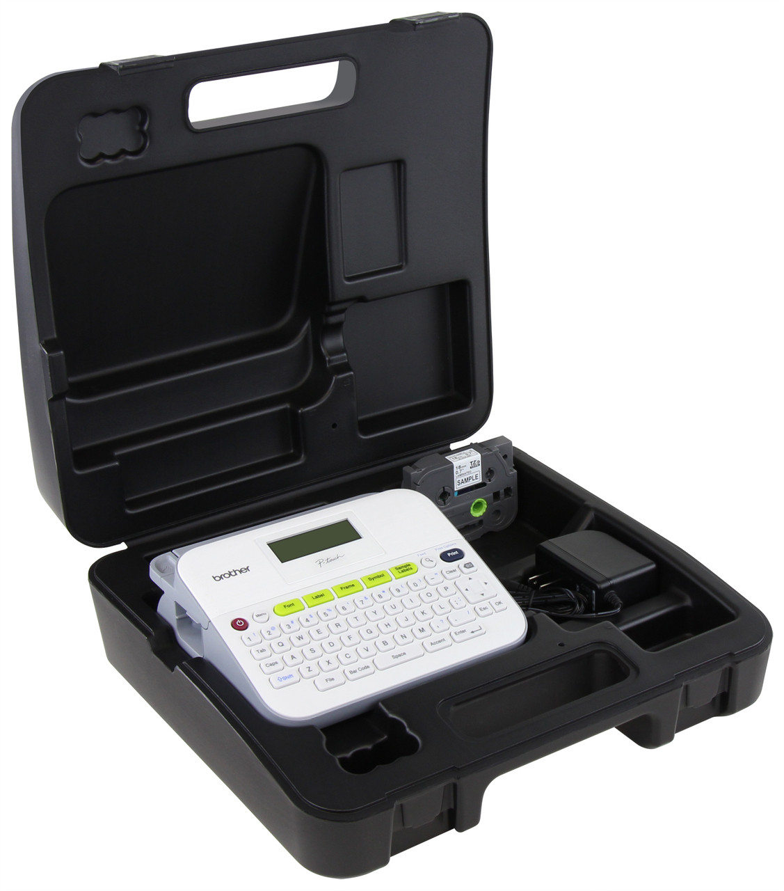 Brother PT-D400VP Label Maker W/ AC Adapter And Case