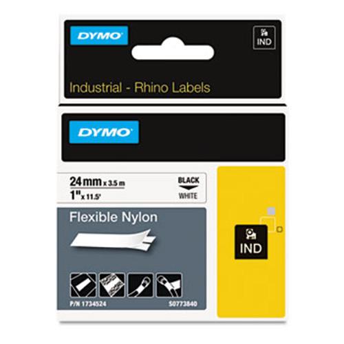 "Dymo 1734524 Rhino 1"" Flexible Nylon Industrial Label Tape"
