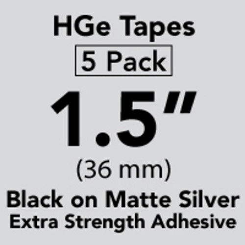 Brother HGES9615PK Black on Matte Silver Extra-Strength