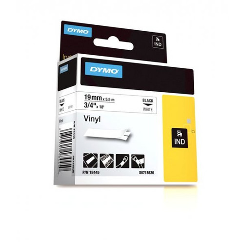 Dymo 18445 IND 3/4 White Vinyl Labels