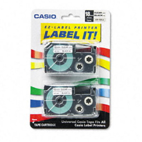Casio XR18X2S Black on Clear Tape Cassettes