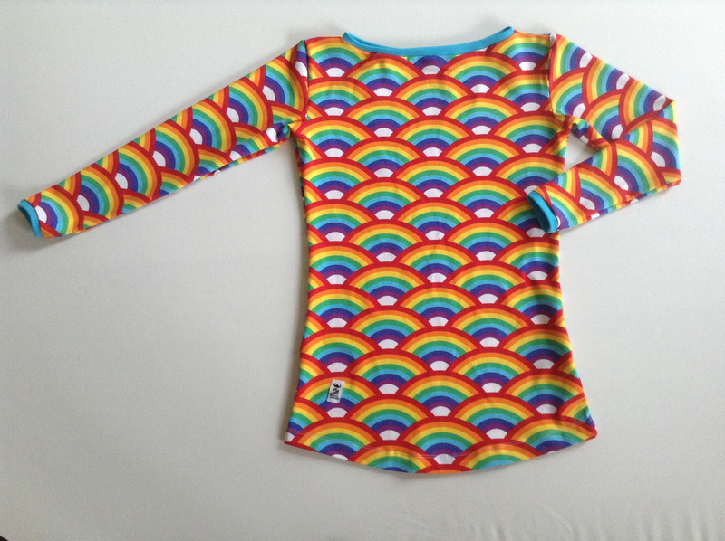Rainbows with high neck and 3/4 sleeve
