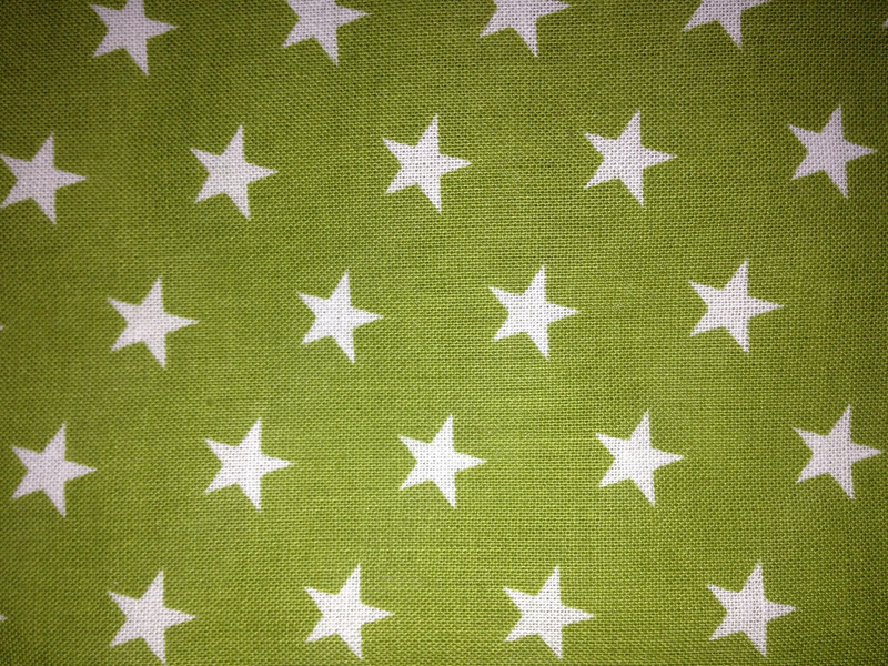 Lime Stars Cotton
