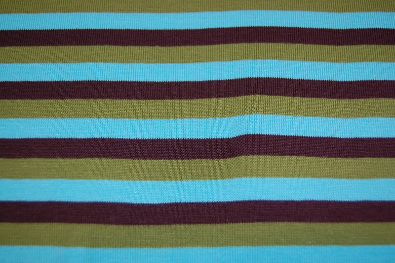 Green Brown Turquoise Stripe