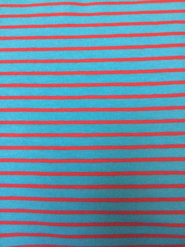 Turquoise/Red Stripe