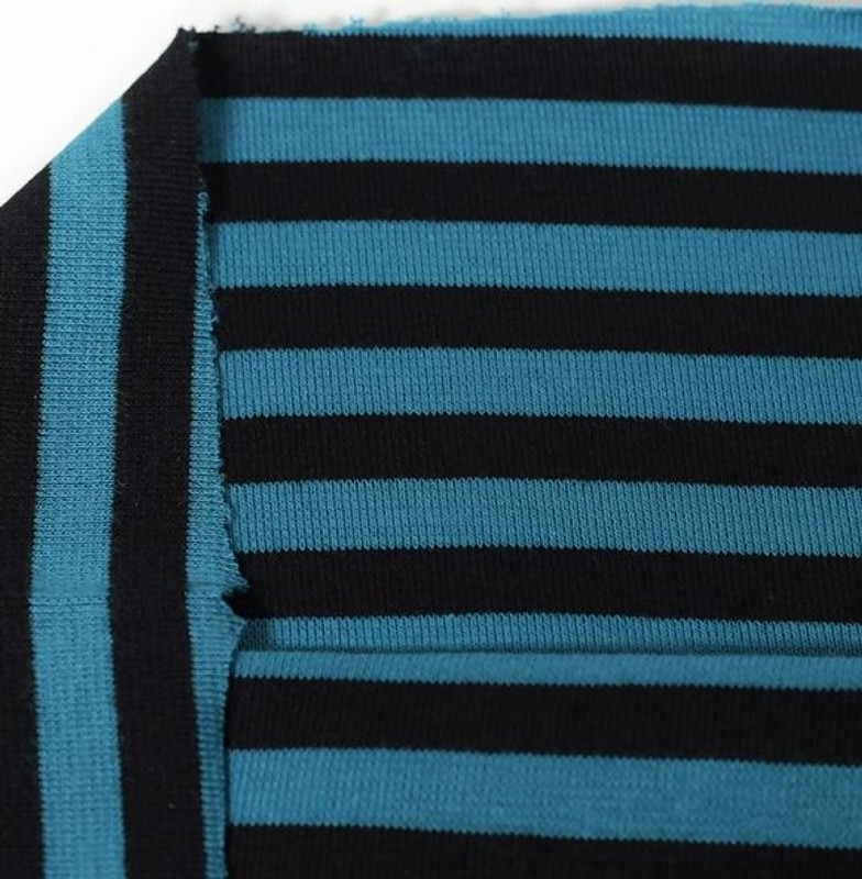 Black Petrol Stripe Ribb