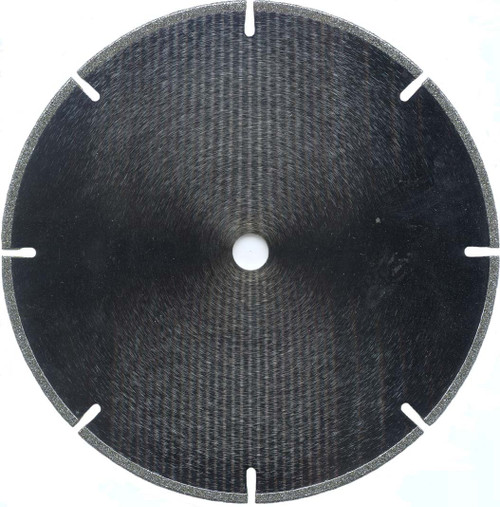 "8"" X 3/32"" X 1/2"" Bore Slotted Diamond Saw Blade"