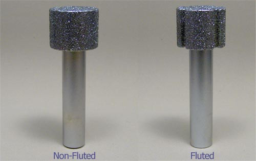 """1-1/2"""" X 1"""" X 1/2"""" X 3"""" OAL Fluted Diamond Router"""