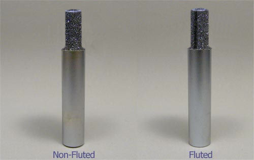 """1/8"""" X 1"""" X 1/4"""" X 2-1/2"""" OAL Non-Fluted Diamond Router"""