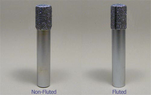 """1/2"""" X 1"""" X 1/2"""" X 3"""" OAL Fluted Diamond Router"""