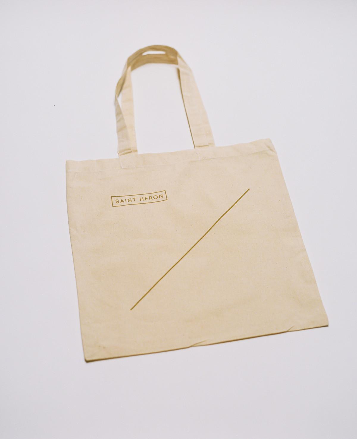 Saint Heron Tote Bag - Golden Line