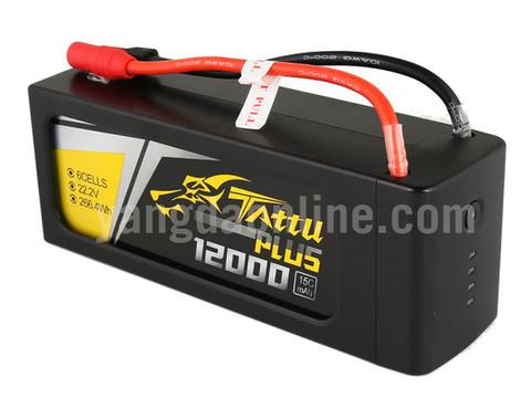 Gens Tattu Plus 12000mAh 22.2V 15C 6S1P Lipo Smart Battery Pack With AS150 + XT150 Plug