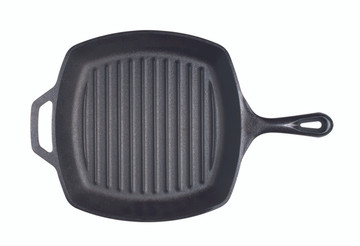 "Cast Iron 10.5"" Square Grill Pan"