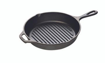 "Cast Iron 10.5"" Round Grill Pan"