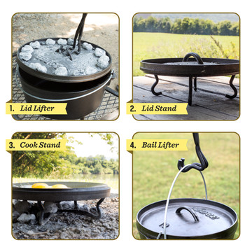 4 In 1 Camp Dutch Oven Tool