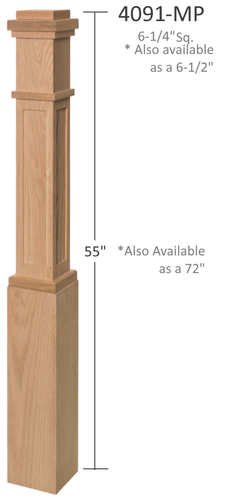 Mission style custom newel post from Lighted Landings