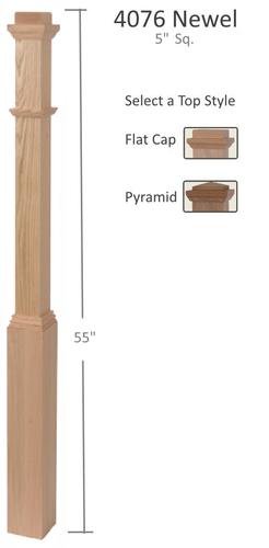 5 inch box newel post