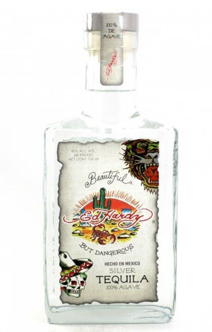 Ed Hardy Silver Tequila 100% Agave 750mL