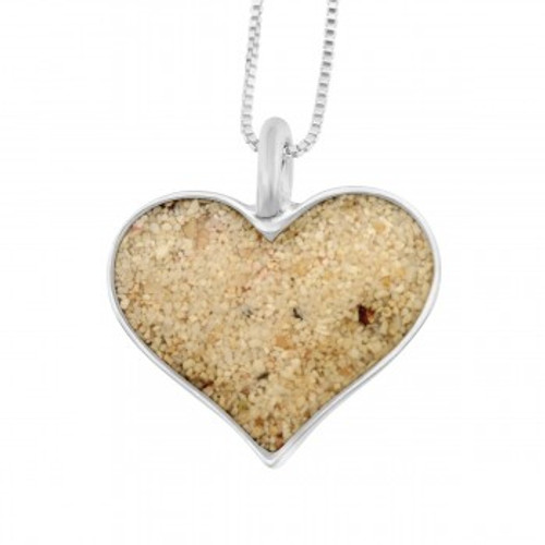 Dune Heart Necklace (Sand or Flowers)
