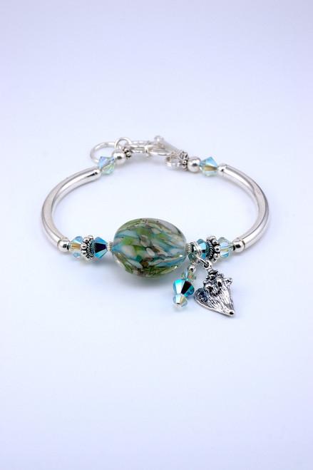 Floridian Memories Glass Lentil Bead Bracelet