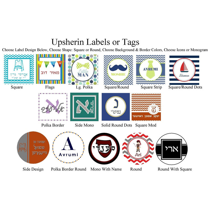 Custom Upsherin Labels or Tags