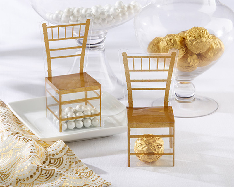 Gold Chiavari Gold Chair Favor Box (Set of 24)